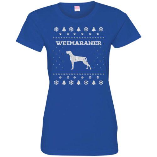 Weimaraner Christmas Ladies' Premium T-Shirt