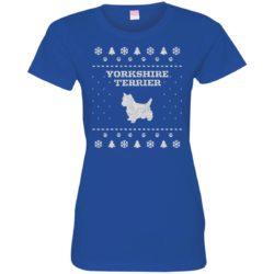 Yorkshire Terrier Christmas Ladies' Premium T-Shirt
