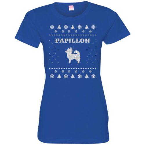 Papillon Christmas Ladies' Premium T-Shirt