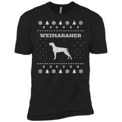 Weimaraner Christmas Premium T-Shirt