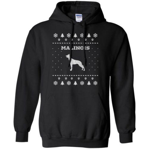 Malinois Christmas Pullover Hoodie