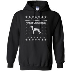 Weimaraner Christmas Pullover Hoodie