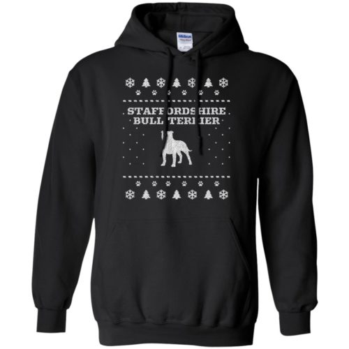Staffordshire Bull Terrier Christmas Pullover Hoodie