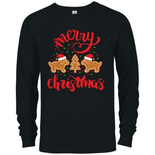 Gingerbread Dogs Premium Crew Neck Sweatshirt