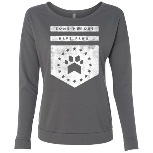 Heroes Have Paws Ladies' Scoop Neck Sweatshirt