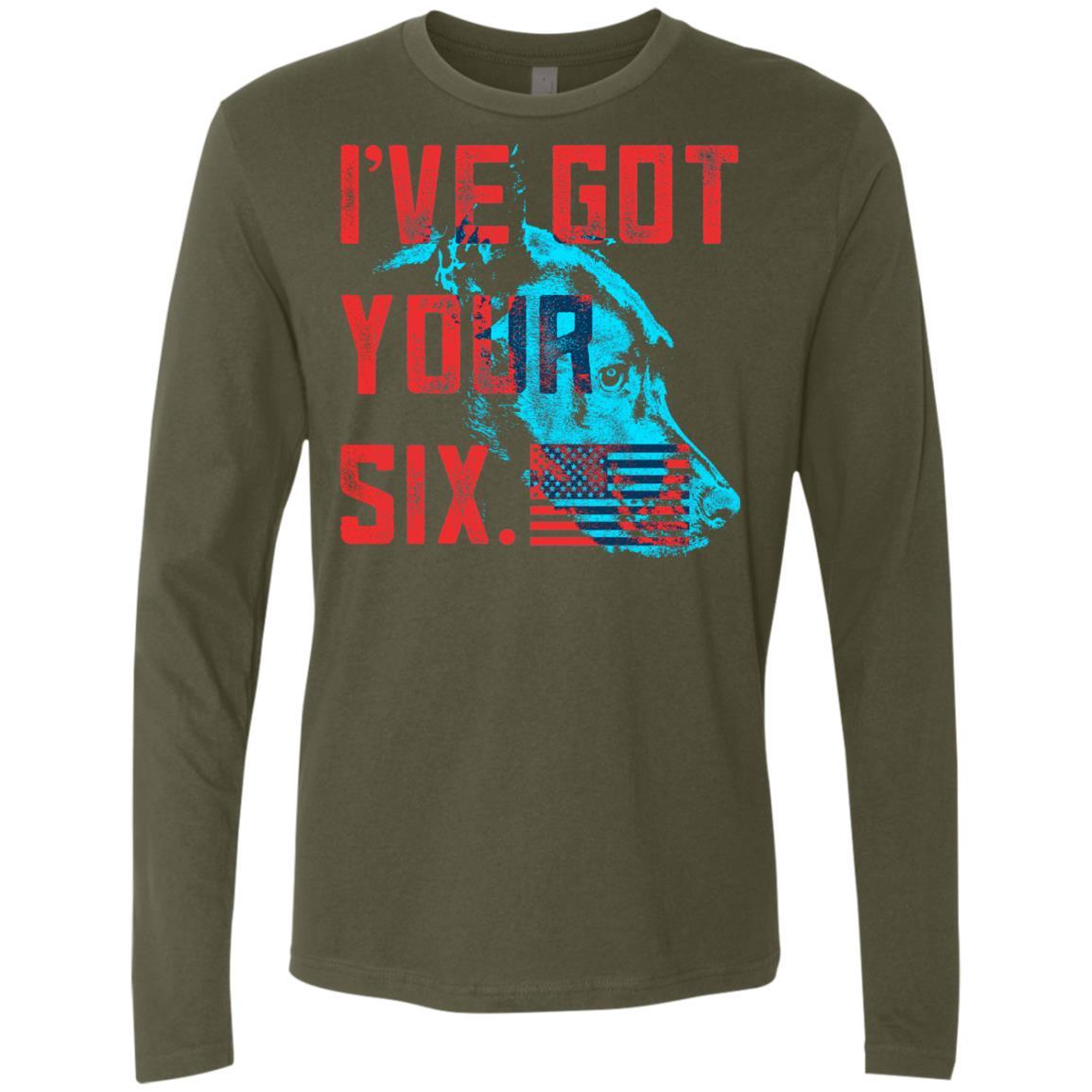 Got Your Six Premium Long Sleeve Shirt – iHeartDogs.com