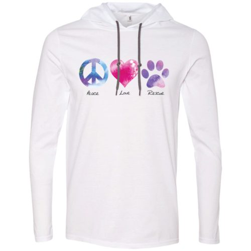 Peace Love Rescue T-Shirt Hoodie