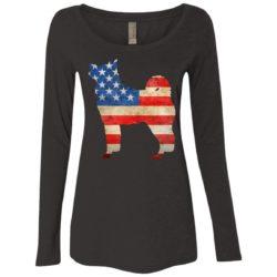 Vintage Akita USA Ladies' Scoop Neck Long Sleeve Shirt
