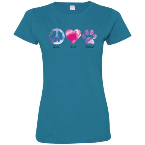 Peace Love Rescue Fitted Tee