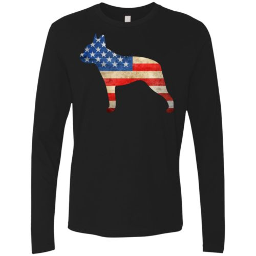 Vintage Boston Terrier USA Premium Long Sleeve Tee