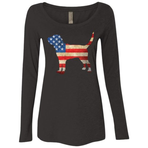 Vintage Bloodhound USA Ladies' Scoop Neck Long Sleeve Shirt