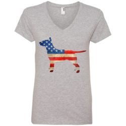 Vintage Bull Terrier USA Ladies' Premium V-Neck