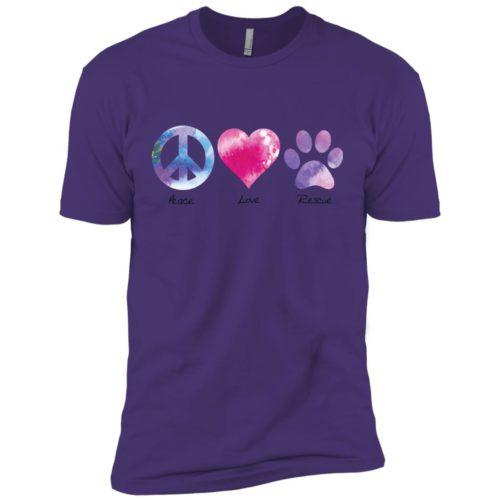 Peace Love Rescue Premium Tee