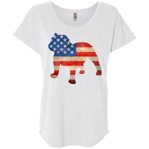Vintage Bulldog USA Ladies' Slouchy T-Shirt