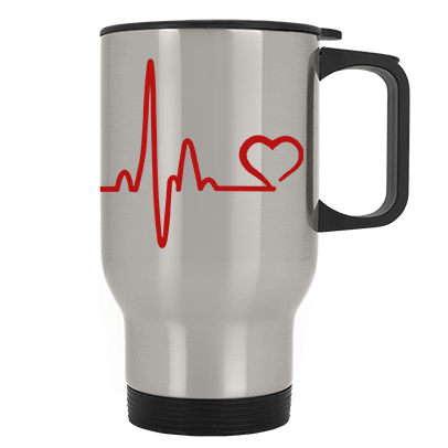 Heartbeat Paw Stainless Steel Travel Mug