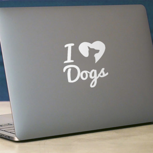 iHeartDogs Logo Vinyl Sticker