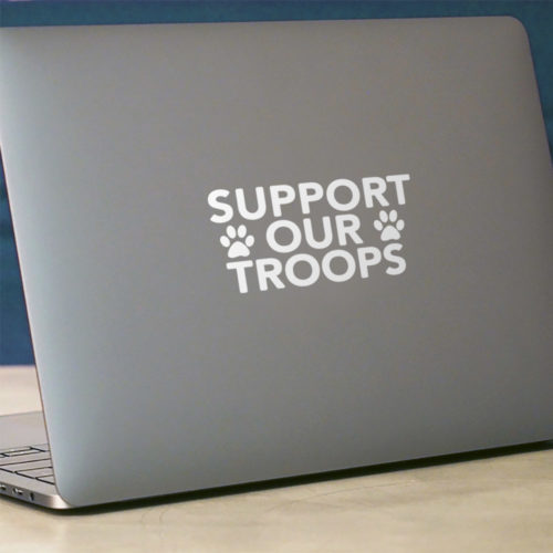 Support Our Troops Vinyl Sticker