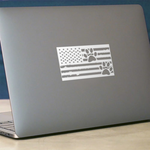 Distressed Paw Flag Vinyl Sticker