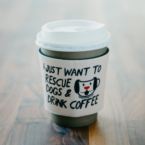I Want to Rescue Dogs & Drink Coffee Insulated Holder
