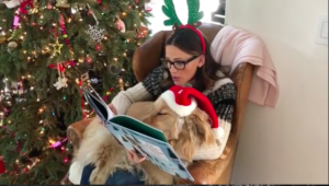Jennifer Garner Reads Christmas Story To Canine & Her Response Is Valuable