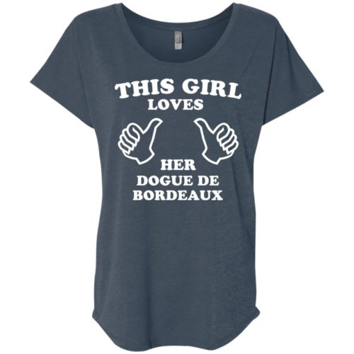 This Girl Loves Her Dogue De Bordeaux Slouchy Tee