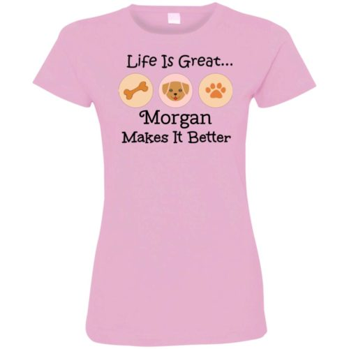 Life Is Great Personalized Ladies' Premium T-Shirt