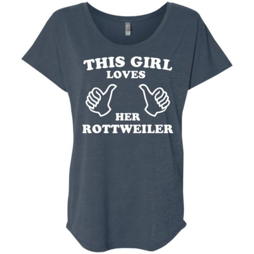 This Girl Loves Her Rottweiler Slouchy Tee