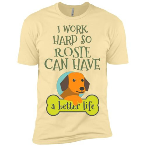 I Work Hard Personalized Premium T-Shirt