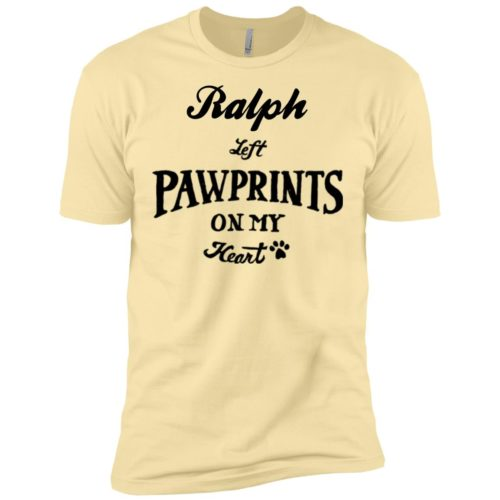 Pawprints On My Heart Personalized Premium T-Shirt
