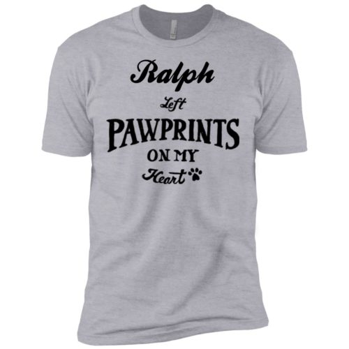 Pawprints On My Heart Personalized Premium Tee