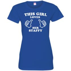 This Girl Loves Her Staffordshire Bull Terrier Ladies' Premium T-Shirt