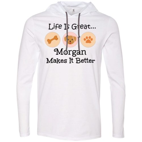 Life Is Great Personalized Lightweight T-Shirt Hoodie