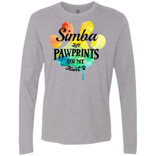 Rainbow Pawprints On My Heart Personalized Premium Long Sleeve Shirt