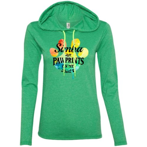 Rainbow Pawprints On My Heart Personalized Fitted T-Shirt Hoodie