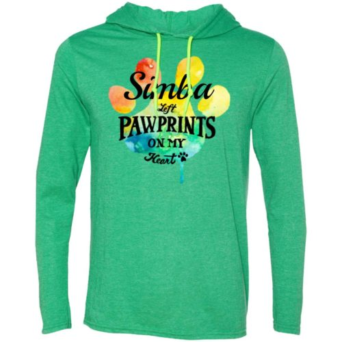 Rainbow Pawprints On My Heart Personalized T-Shirt Hoodie