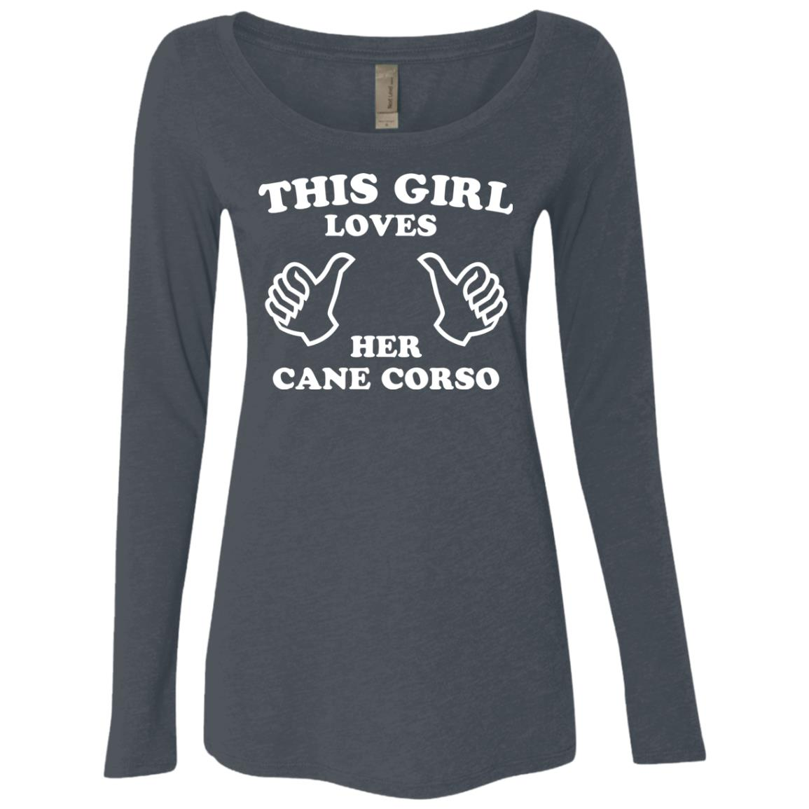 cfd6e70d0 This Girl Loves Her Cane Corso Fitted Scoop Neck Long Sleeve