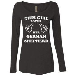 This Girl Loves Her German Shepherd Ladies' Scoop Neck Long Sleeve