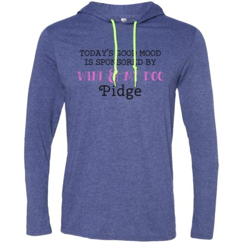 Wine & My Dog Personalized T-Shirt Hoodie