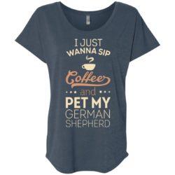 Sip Coffee & Pet My German Shepherd Slouchy Tee