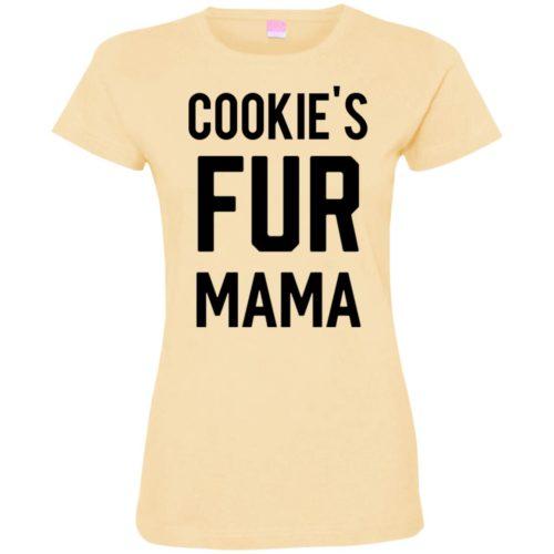 Fur Mama Personalized Ladies' Premium T-Shirt