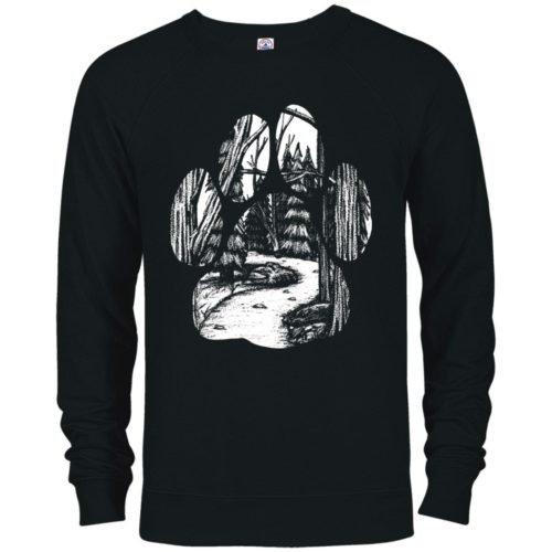 Forest Walk Paw Premium Crew Neck Sweatshirt