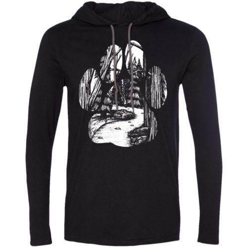 Forest Walk Paw T-Shirt Hoodie