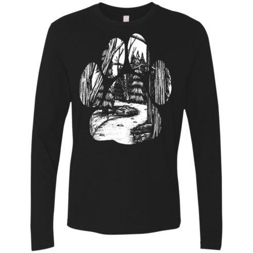 Forest Walk Paw Premium Long Sleeve Shirt
