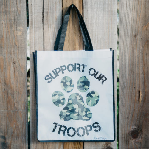 Camo Paw Grocery Bag - Black Trim