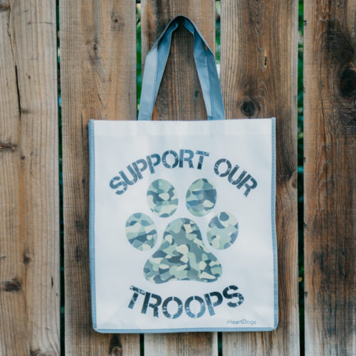 Camo Paw Grocery Bag - Dark Grey Trim