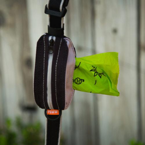 Pick Pocket Pouch™ the Handiest Poop Bag Holder Ever – Black, Large