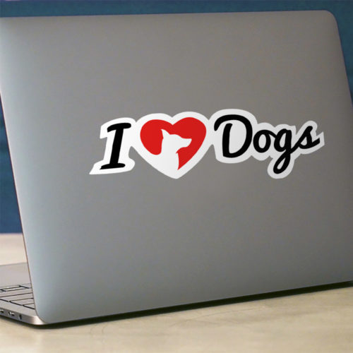 iHeartDogs Logo Vinyl Sticker - Large Size