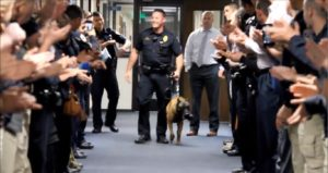 Officers Present K9 With A Lovely Goodbye As He Enters Retirement