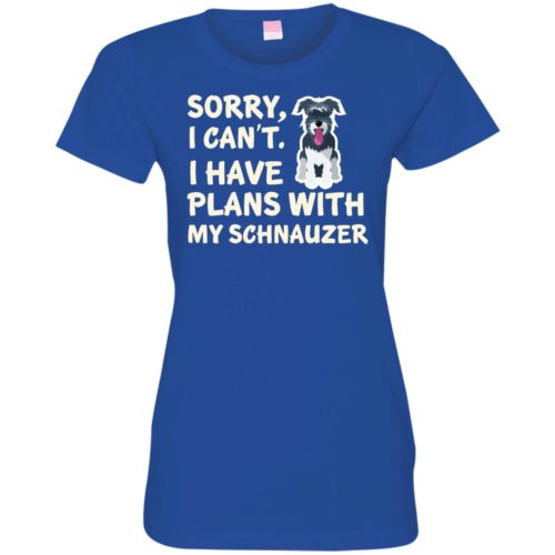 I Have Plans Schnauzer Fitted Tee
