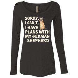 I Have Plans German Shepherd Fitted Scoop Neck Long Sleeve